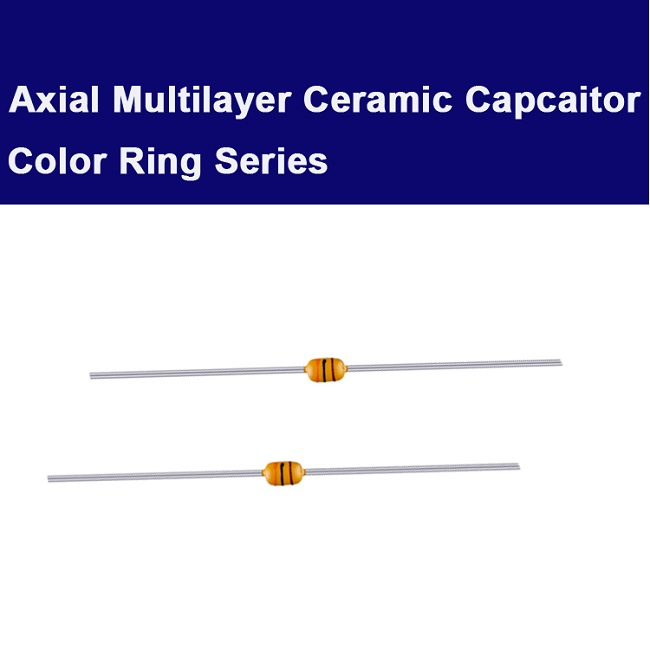 Axial color ring capacitor