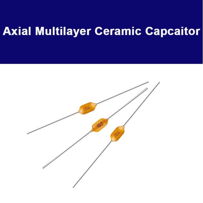Axial ceramic capacitor
